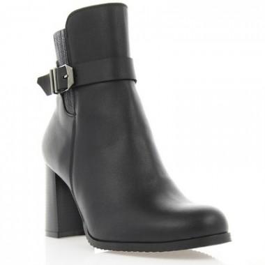 Ботинки женские черные, кожа (2935 чн. Шк) Roma style