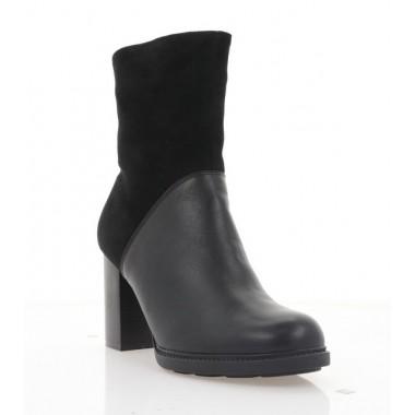 Черевики жіночі чорні, шкіра/велюр (2936 чн. Шк+Вл (шерсть)) Roma style