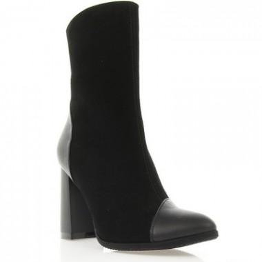 Купити Черевики жіночі чорні, велюр/шкіра (2937 чн. Вл+Шк) Roma style за найкращими цінами