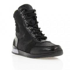 Ботинки детские, черные, лакированная кожа/замша (2942М чн. Лк (шерсть)) Roma style