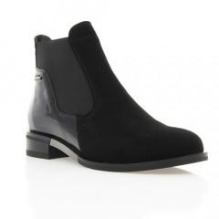 Ботинки женские черные, велюр (2946 чн. Вл (байка)) Roma style