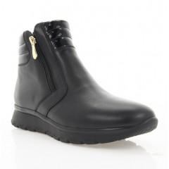 Ботинки женские черные, кожа/лакированная кожа (2950 чн. Шк+Лк (шерсть)) Roma style