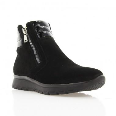 2315bac97905 Купить Ботинки женские черные, замша лакированная кожа (2950 чн. Зш+ ...