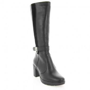 Купить Сапоги женские черные, кожа (2957 чн. Шк (шерсть)) Roma style по лучшим ценам