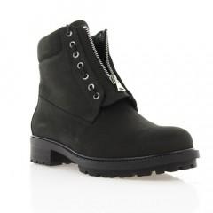 Ботинки женские черные, нубук (2959 чн. Нб (шерсть)) Roma style