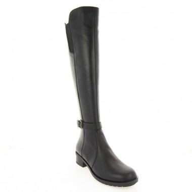 Купити Чоботи-ботфорти жіночі чорні, шкіра (2961 чн. Шк (євро)) Roma style за найкращими цінами