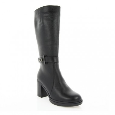 Купить Сапоги женские черные, кожа (2976 чн. Фл (шерсть)) Roma style по лучшим ценам