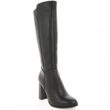 Купить Сапоги женские черные, кожа (2978 чн. Шк (шер)) Roma style по лучшим ценам