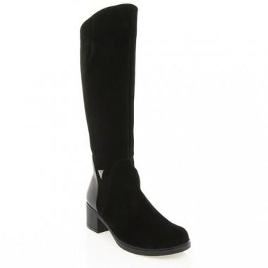 Купить Сапоги женские черные, замша/кожа (2979 чн. Зш+Шк (шер)) Roma style по лучшим ценам