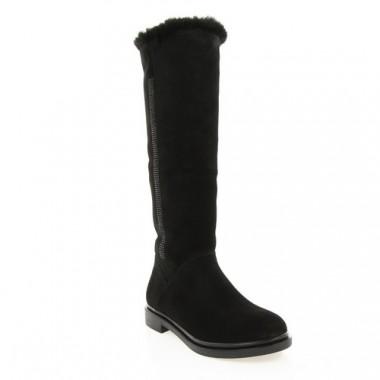 Купить Сапоги женские черные, замша (2982 чн. Зш (шерсть)) Roma style по лучшим ценам
