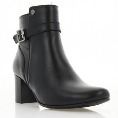 Ботинки женские черные, кожа (2996 чн. Шк (байка)) Roma style
