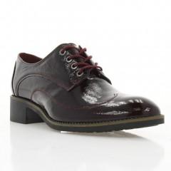 Туфли женские бордовые, лакированная кожа (3001 борд. Лк) Roma style