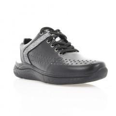 Кросівки жіночі чорні/срібні, шкіра (3003 чн. Шк_срібн) Roma style