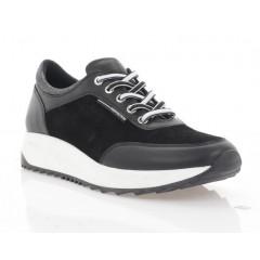 Кросівки жіночі чорні, шкіра/замш (3004-20 чн. Шк+Зш) Roma style