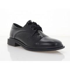 Туфли женские черные, кожа/лакированная кожа (3008-21 чн. Шк+репт) Roma style