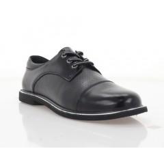 Туфли женские черные, кожа/лакированная кожа (3008-21 чн. Шк) Roma style