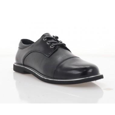 Туфлі жіночі чорні,  шкіра/лакована шкіра (3008-21 чн. Шк) Roma style