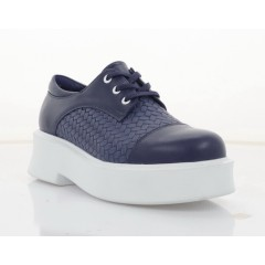 Туфли женские синие, кожа (3008-21 сн. Шк) Roma style