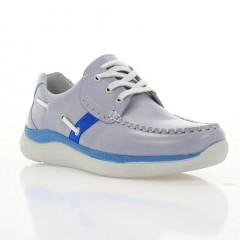 Кросівки жіночі сірі/голубі, шкіра (3011 сір. Шк_гол) Roma style