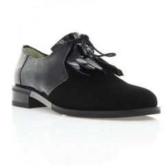 Туфлі жіночі чорні, лакована шкіра/велюр (3012 чн. Вл+Лк) Roma style