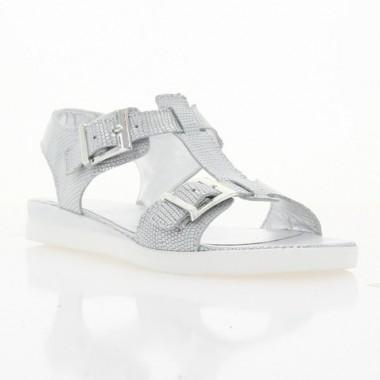 Купити Босоніжки жіночі срібні, шкіра (3013 срібна Шк) Roma style за найкращими цінами