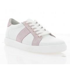 Кеди жіночі білі/рожеві, шкіра (3025-19 біл. Шк_рож) Roma style