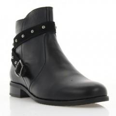 Ботинки женские черные, кожа (3026 чн. Шк (байка)) Roma style