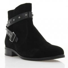 Ботинки женские черные, велюр (3026 чн. Вл (байка)) Roma style