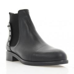 Ботинки женские черные, кожа (3056 чн. Шк (байка)) Roma style