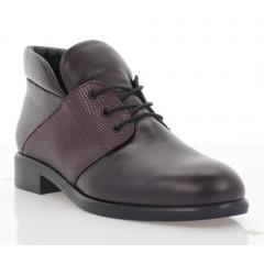 Ботинки женские бордовые, кожа (3057-19 бордо. Шк (байка)) Roma style