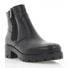Ботинки женские черные, кожа (3060 чн. Шк (шерсть)) Roma style