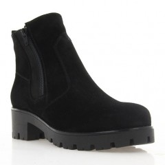 Ботинки женские черные, замша (3060 чн. Зш (шерсть)) Roma style