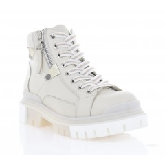Ботинки женские бежевые, кожа (3062-20 беж. Шк (байка)) Roma style