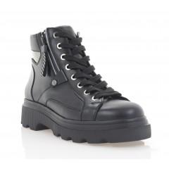 Ботинки женские черные, кожа (3062-20 чн. Шк (байка)) Roma style