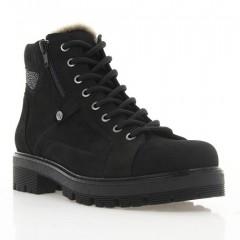 Ботинки женские черные, нубук (3062 чн. Нб (шерсть)) Roma style