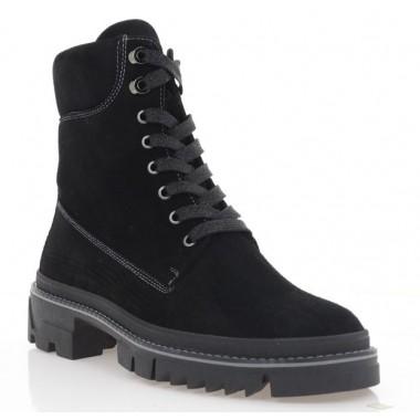 Ботинки женские черные, замша (3067-20 чн. Зш (шер)) Roma style