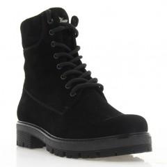 Ботинки женские черные, замша (3067 чн. Зш (шерсть)) Roma style