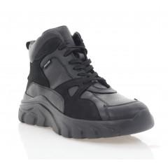 Кросівки жіночі чорні, шкіра (3072-20 чн. Шк (шерсть)) Roma style