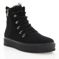 Ботинки женские черные, замша (3074 чн. Зш (шерсть)) Roma style