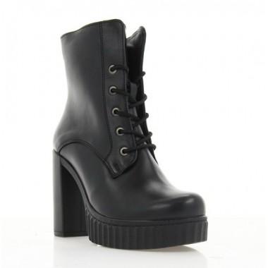 Купить Ботинки женские черные, кожа (3078 чн. Шк (байка)) Roma style по лучшим ценам
