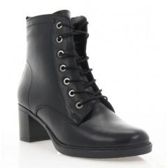 Ботинки женские черные, кожа (3079 чн. Шк (шерсть)) Roma style