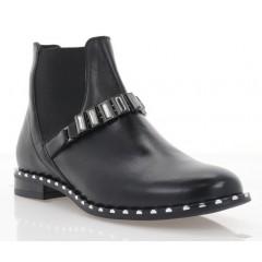 Ботинки женские черные, кожа (3100 чн. Шк) Roma style