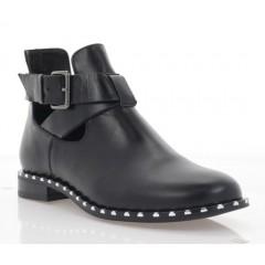 Ботинки женские черные, кожа (3101 побочные. Шк) Roma style