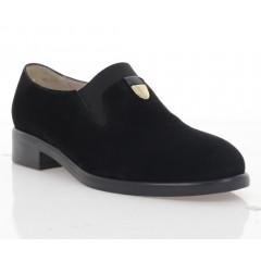 Туфли женские черные, велюр (3103 чн. Вл) Roma style