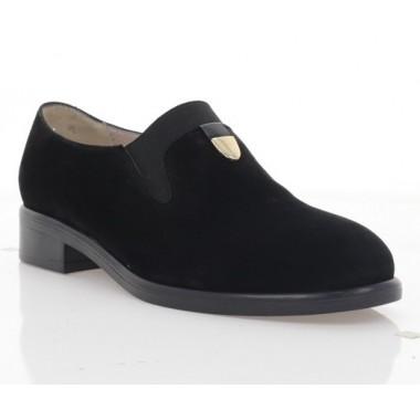 Туфлі жіночі чорні, велюр (3103 чн. Вл) Roma style