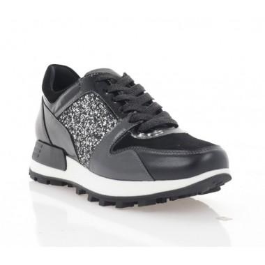 Кросівки жіночі чорні, шкіра/замш (3104-20 чн. Шк_шкло) Roma style