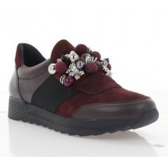 Кросівки жіночі бордові, замш (3105 бордо. Зш) Roma style