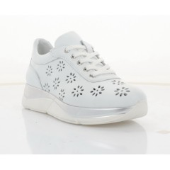 Кросівки жіночі білі, шкіра (3106-21 D біл. Шк) Roma style