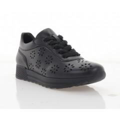 Кросівки жіночі чорні, шкіра (3106-21 D чн. Шк) Roma style
