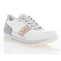 Кросівки жіночі білі/рожеві, шкіра (3112 біл. Шк_рож) Roma style